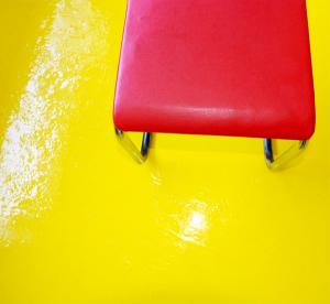 Gult epoxy gulv